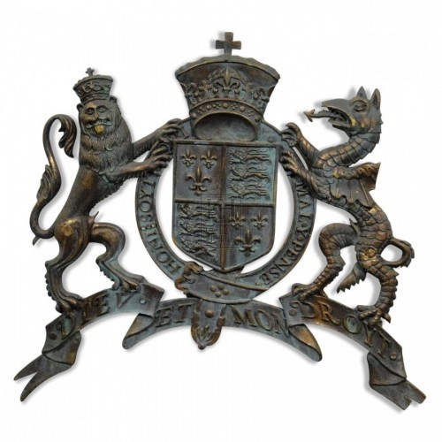 Aged Lion & Dragon Royal Crest