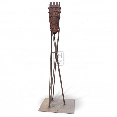 Floorstanding Iron Flambeaux #5