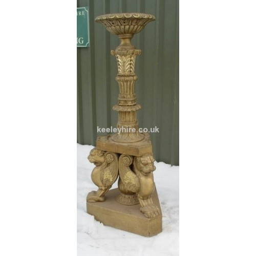 Short Floorstanding Ornate Gold Pedestal