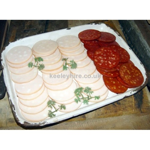 Garlic Sausage slices & Salami slices