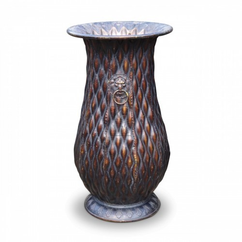 Large Copper Finish Vase