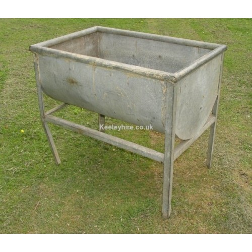Galvanised trough on legs
