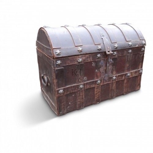 Dome Top Leather Chest