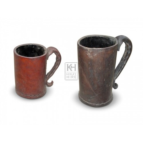 Straight Leather Tankards