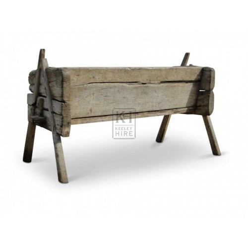 Early rustic wood feed trough #2
