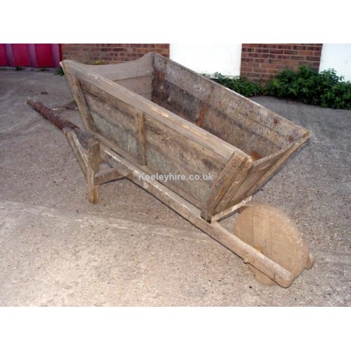 Large early wood wheelbarrow