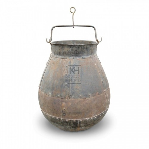 Large Iron Well Bucket