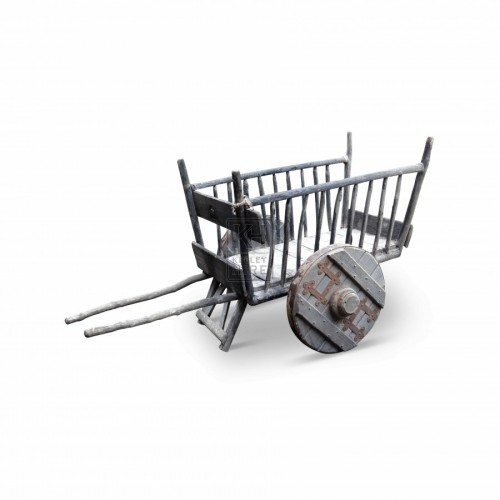 Slatted handcart with solid wheels