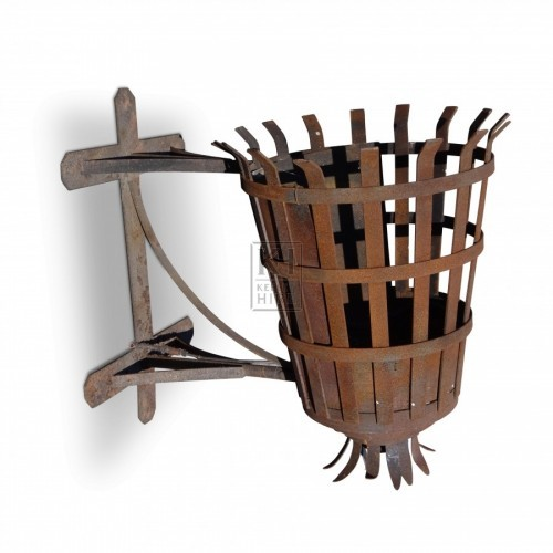 Large Iron Wall Brazier