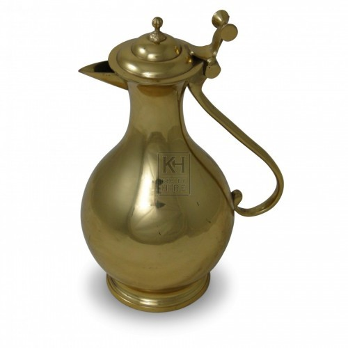 Holbein Gold Plated Pewter Wine Jug