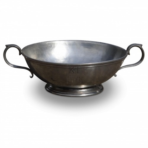 2 Handled Pewter Bowl