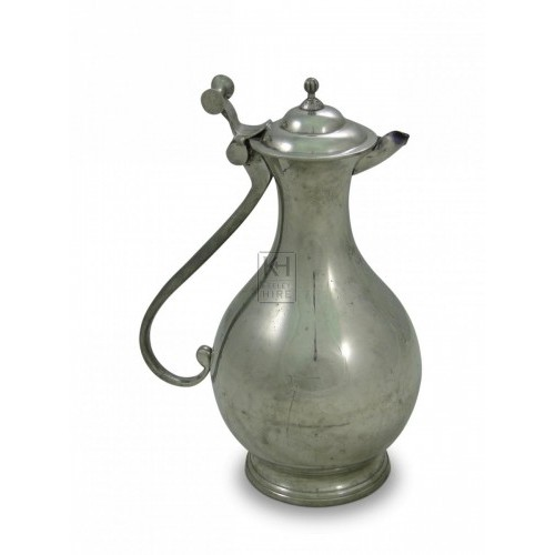 Holbein Pewter Wine Jug with Lid