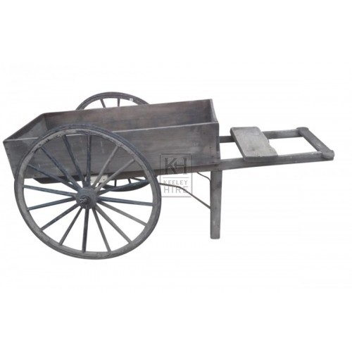 Fruit & Veg handcart with large wheels
