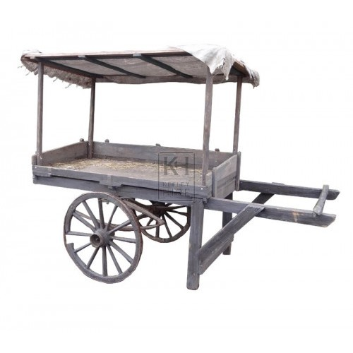 2-wheel handcart with sloping Display