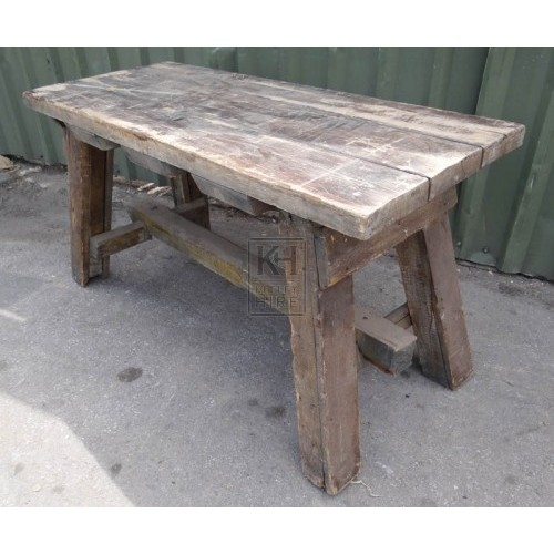 Large heavy wood table