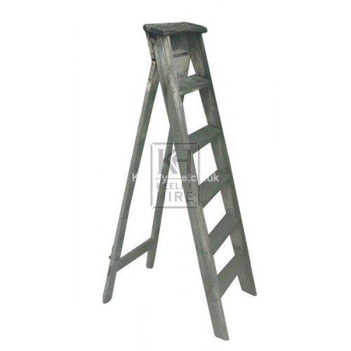Old wood step ladder