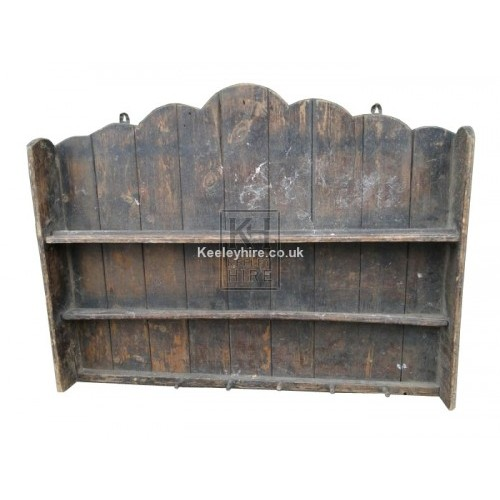 Wooden Wall Tavern Rack with Pegs