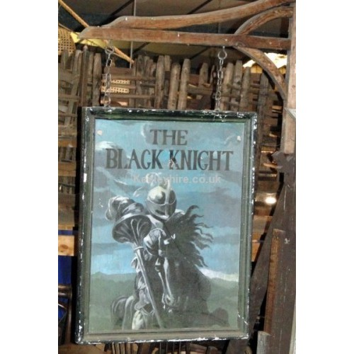 The Black Knight sign & bracket