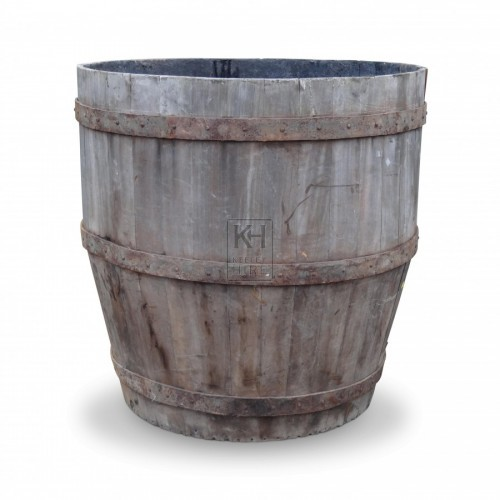 Large Wooden Vat Tub
