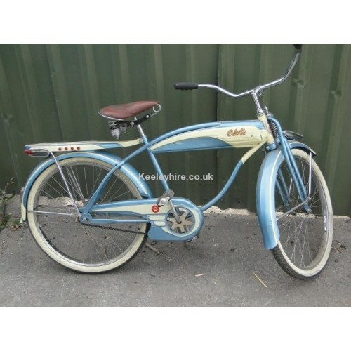 Blue & Cream American 1930s bicycle