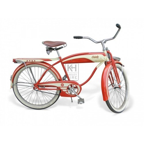 Red & Cream 1930s American bicycle