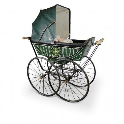 Green Victorian Pram