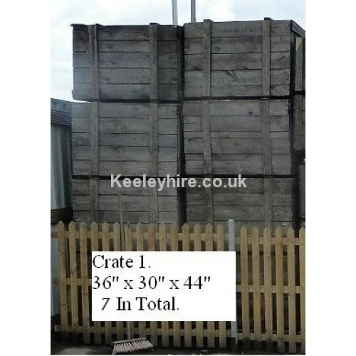 Wood packing crates no1