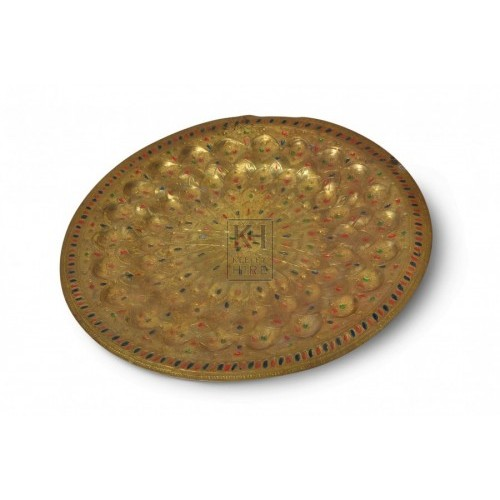 Ornate Brass Plate with decorations