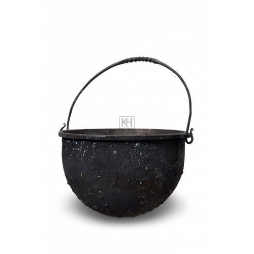 Medium Iron cooking pot with handle