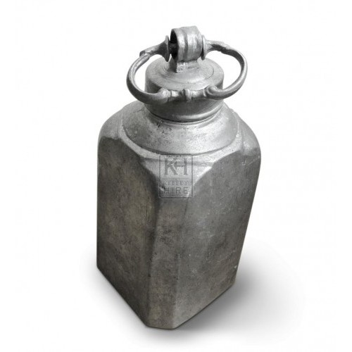 Straight Pewter Flask