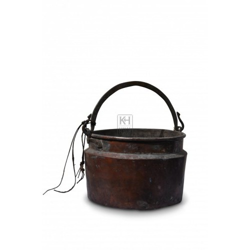Copper Cooking Pot with Hook detailing