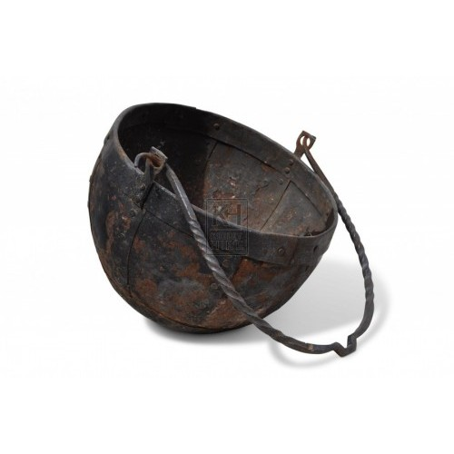 Iron Cooking Pot with round bottom