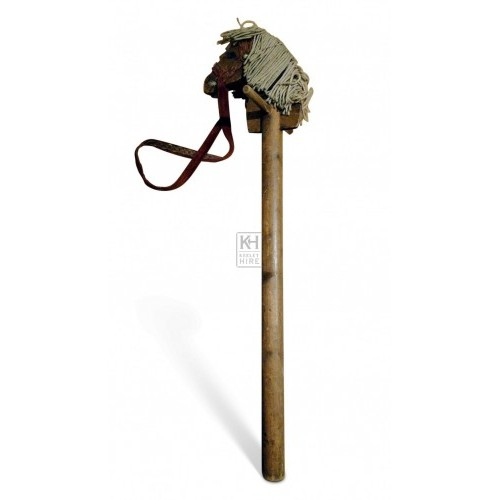 Wooden Hobby Horse with string mane