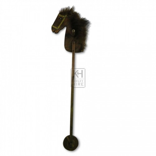 Wooden Hobby Horse with fluffy mane