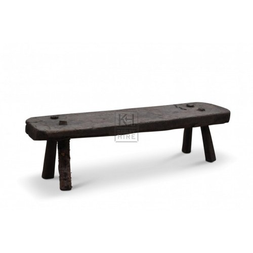 Rough Wooden Bench