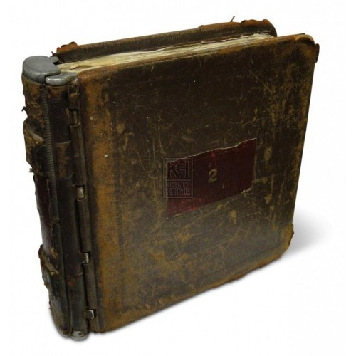 Large Metal Spined Book