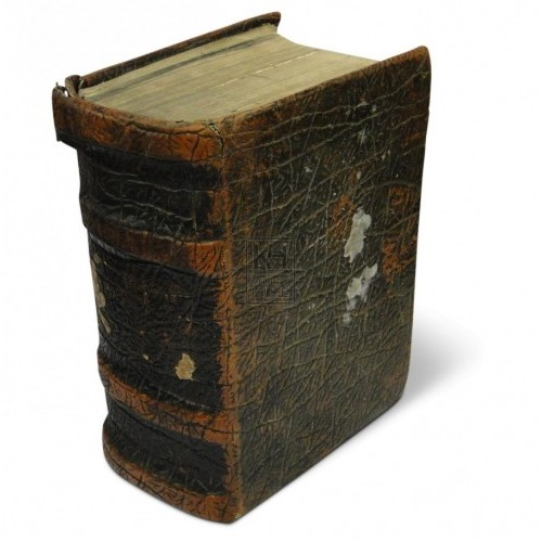 Thick brown aged book