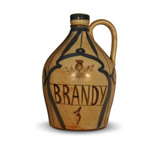 Stoneware Brandy Bottle