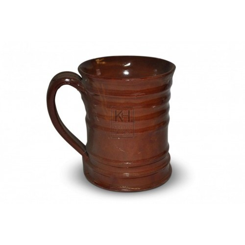 Ribbed Clay Tankard