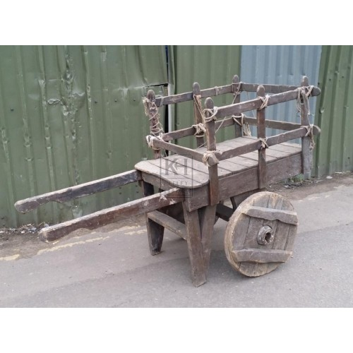 Solid wheel 2 handle cart