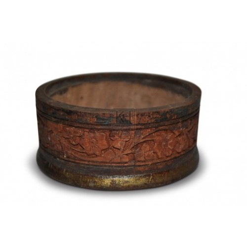 Carved Wooden Pot