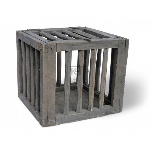 Rough Wood Chicken Cage