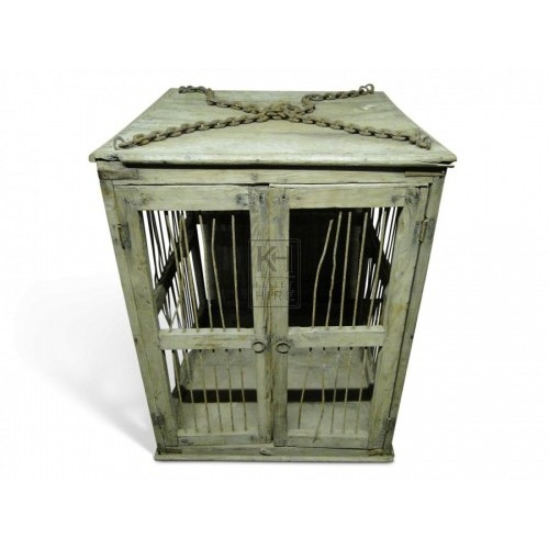 Wooden Cage with Doors