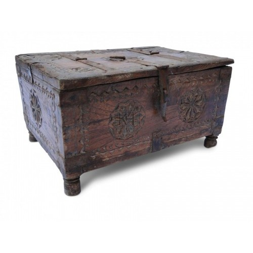 Small Carved Wood Chest