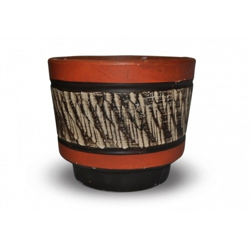 Orange Striped Pot