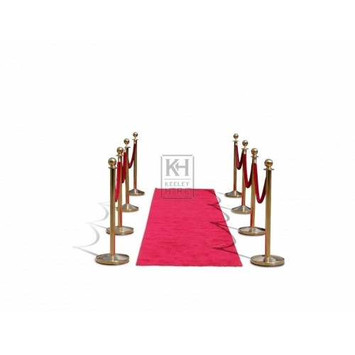 Red Velvet Golden crowd barriers