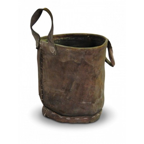 Stitched Leather Bucket