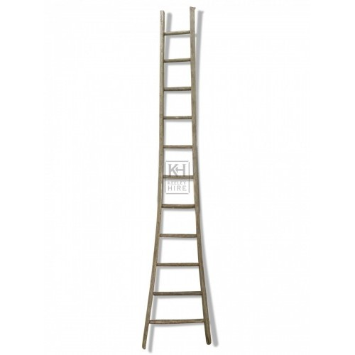 Wood Ladder with flared base