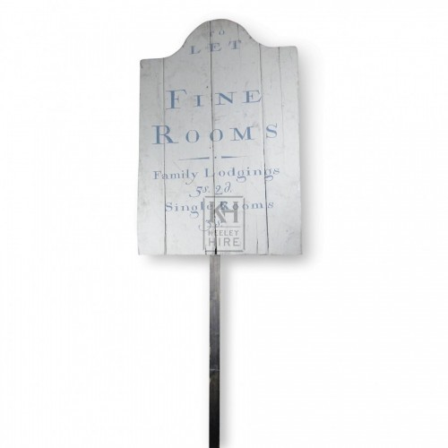 Fine Rooms Pole Sign
