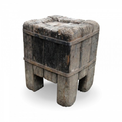 Heavy Wood Anvil Block